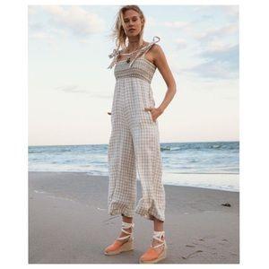 FAHERTY BRAND Eloise Linen Jumpsuit